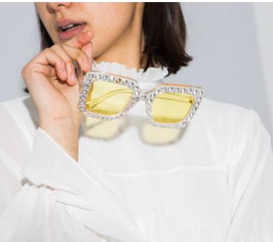 Square gem sunglasses