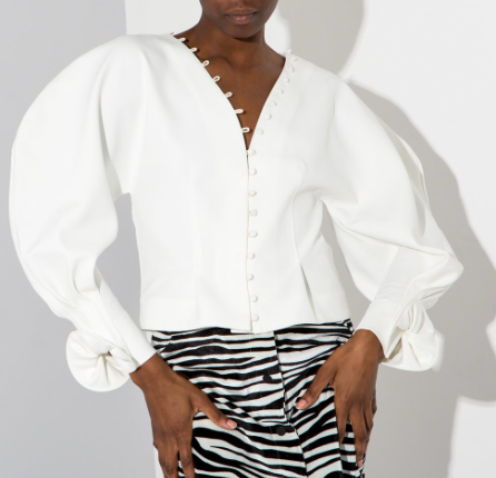 Cyber weekend deals - ohheygirl puffy sleeved blouse