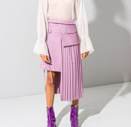 Copy of Lilac pleated skirt