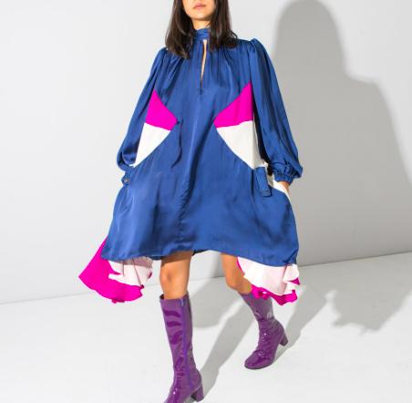 Copy of Colour block A line dress