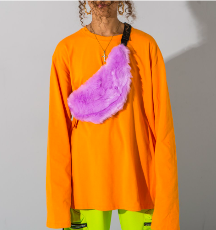 Copy of Bright oversized long sleeve top