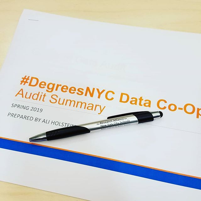 I went to a lot of nonprofits and asked them how/why they collect data and it was cool.  Don't tell #ranycs I stole their pen. #degreesnyc #datacoop #collectiveimpact