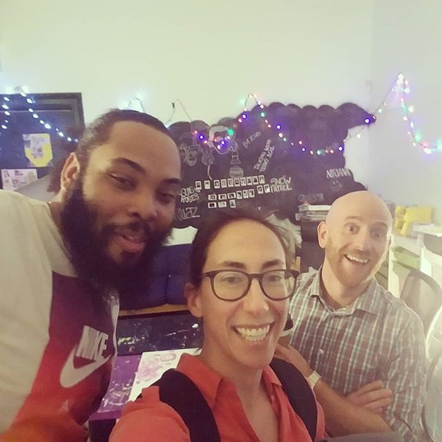 GOOD VIBES @gss.bushwickleaders today! Talking about building relationships with students and supporting their voices. Welcome to new RJ guru, Leo! #gssimproves