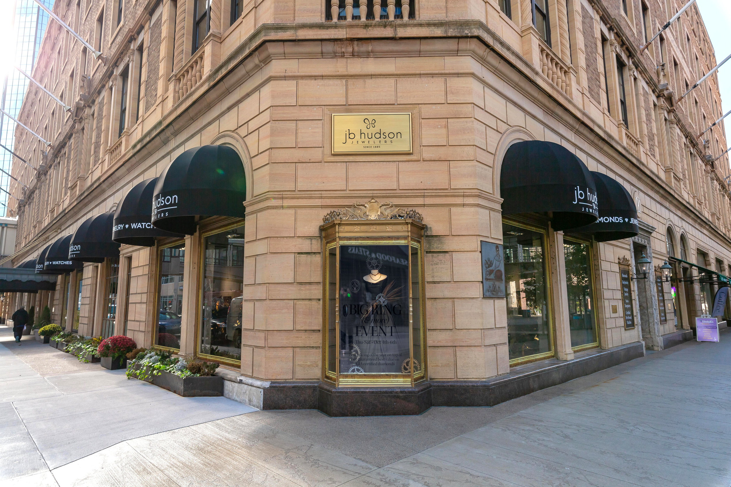 JB Hudson Jewelers - Visit the oldest business in downtown! This premier jeweler since 1885 offers the best in fine jewelry and watches. The store features historic architecture including an impressive staircase and original jewelry cases and light fixtures. See vintage jewelry, amazing window displays and demos with an in-house watchmaker! Coloring books for kids.