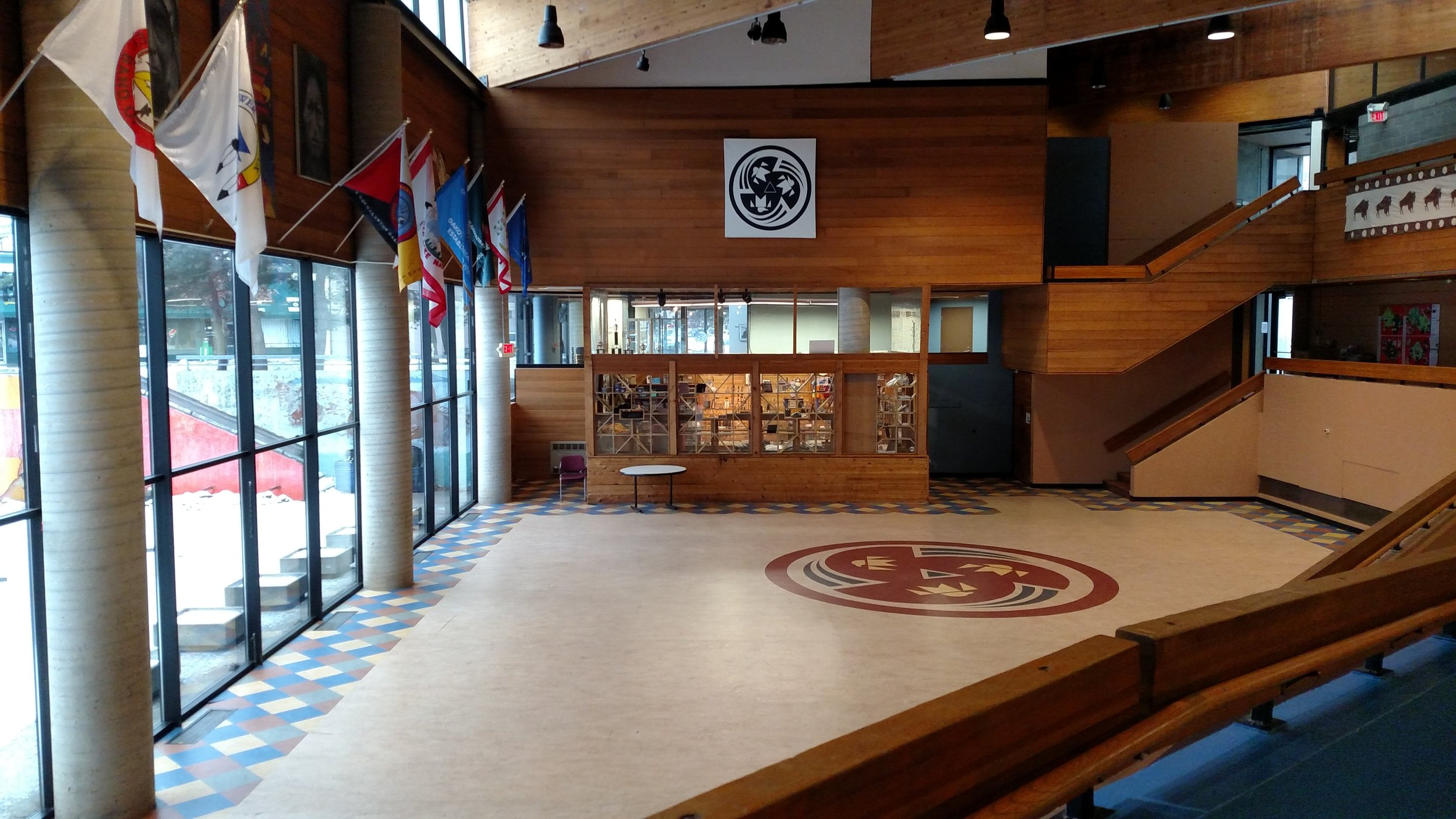 Minneapolis American Indian Center - Founded in 1975, this center is one of the oldest American Indian centers in the country. Check out the Two Rivers Art Gallery, the Gatherings Café offering healthy Indigenous foods, and Dakota and Ojibwe language activities for all ages. Learn more about the Center's upcoming renovation and expansion plan.