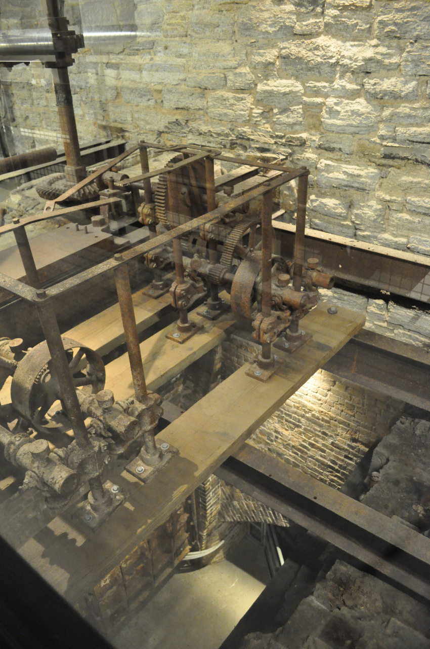 Pillsbury A Mill Underground - Visit the lower levels of the National Historic Landmark Pillsbury A Mill and see the largest direct-drive waterpower system in Minneapolis, including views straight down a 50-foot drop shaft through a glass floor. Mill City Museum guides will tell the story of the mill and answer questions.Meet at the gray door on 3rd Ave. SE at Main Street (around the corner from the A-Mill Artist Lofts' main entrance at 315 Main St. SE). Look for a sidewalk sign for the Pillsbury A Mill Tour. Your guide will meet you just inside the gray door.