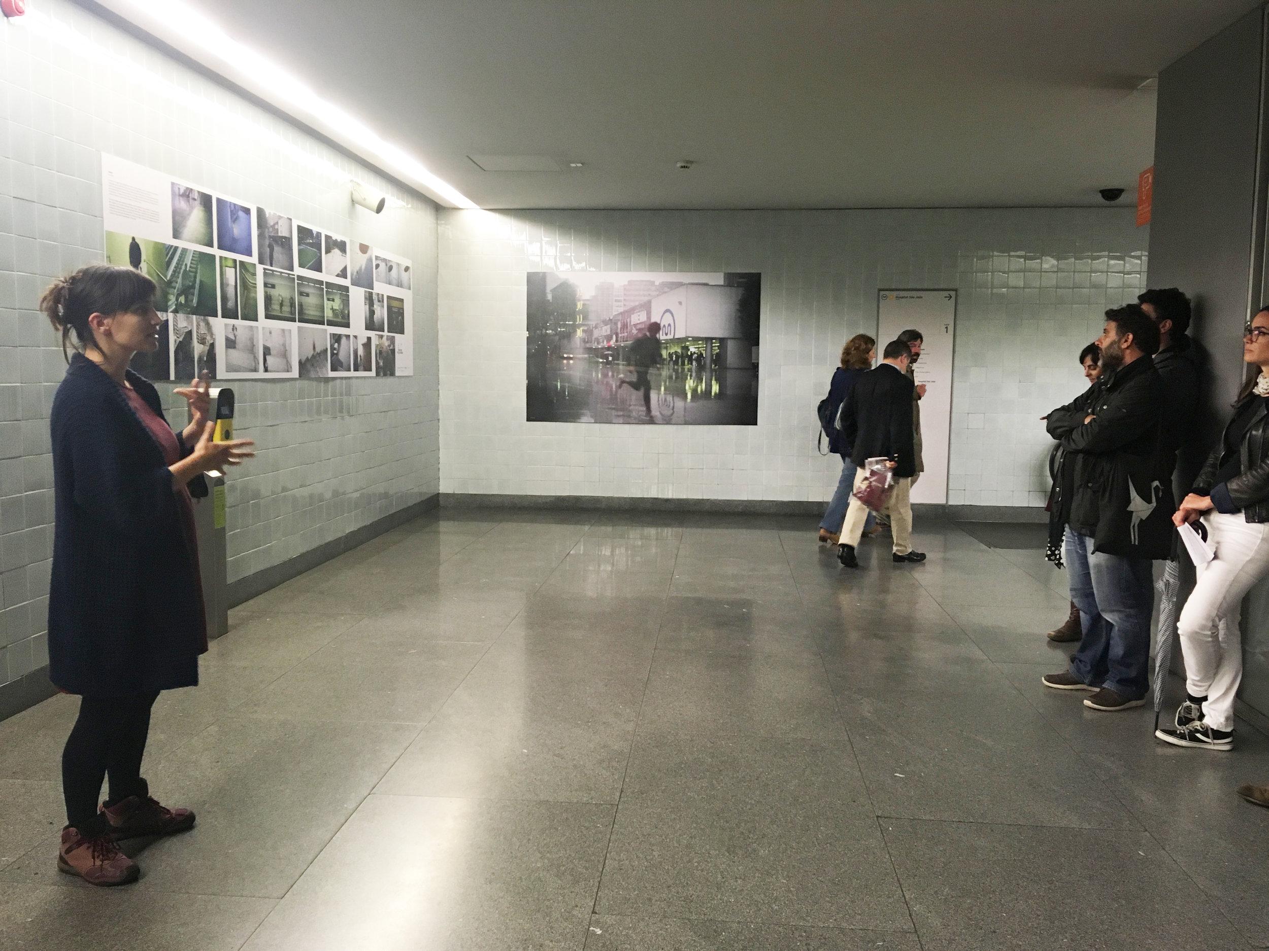 Apresentação e Visita Guiada com Curador e Autores: Visual Spaces of Change / Ci.CLO 2019 - Estação de Metro dos Aliados