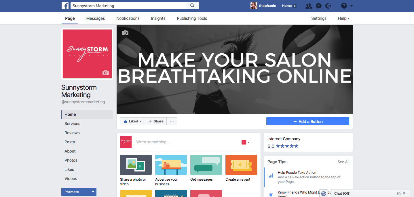 Facebook cover photo salons