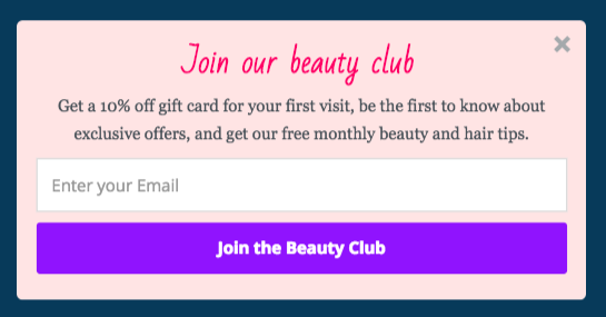 email marketing for salons