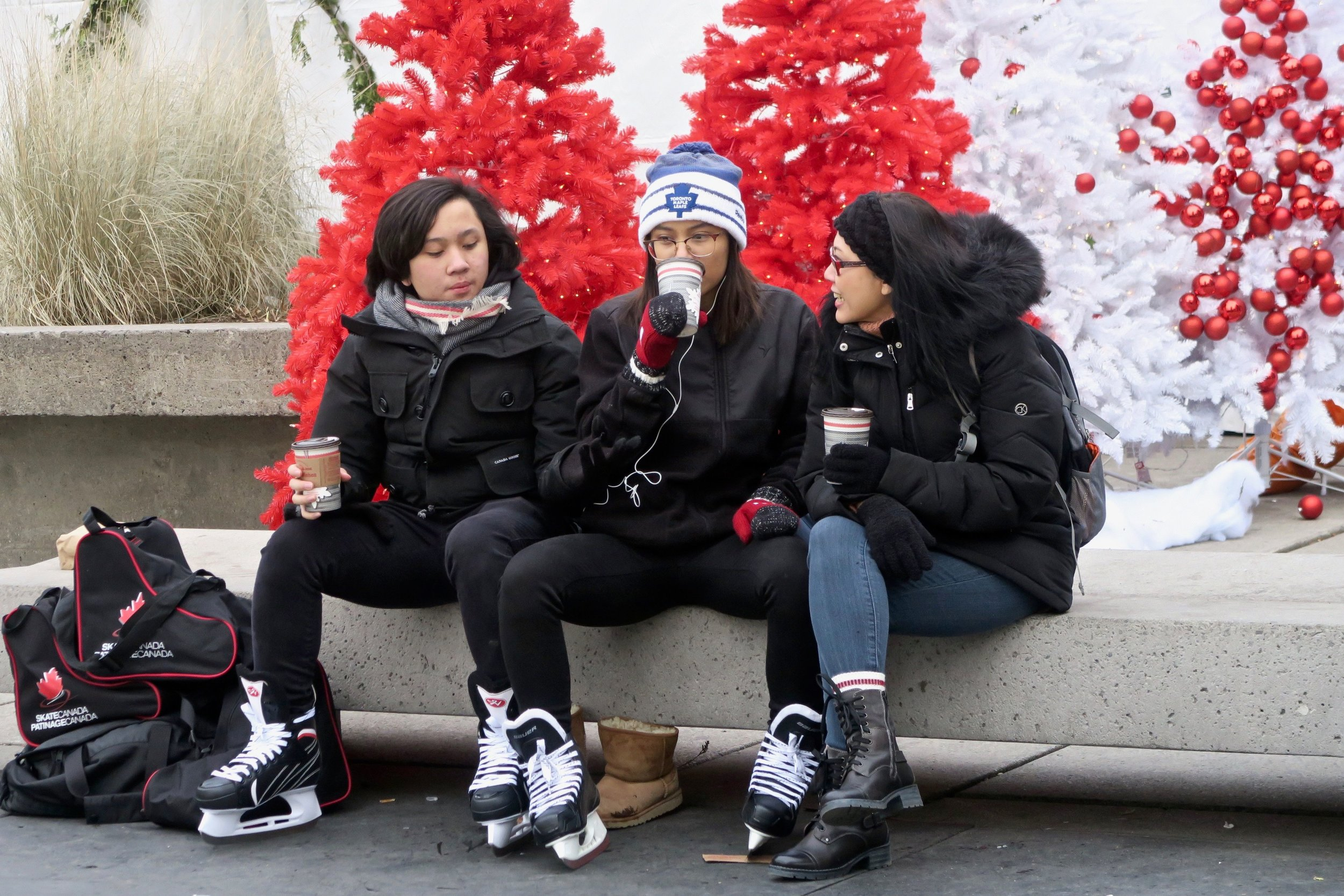 After your skate, enjoy a hot chocolate, mulled wine or hot mulled apple cider with us at the Fair!
