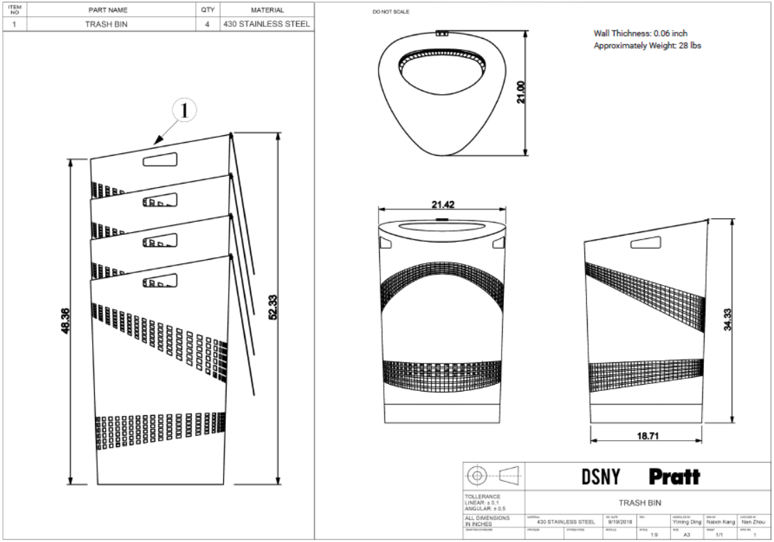 Technical drawing .