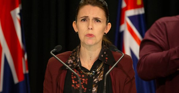 Jacinda Ardern defending her Air Force ride to Nauru. IMAGE: New Zealand Herald.
