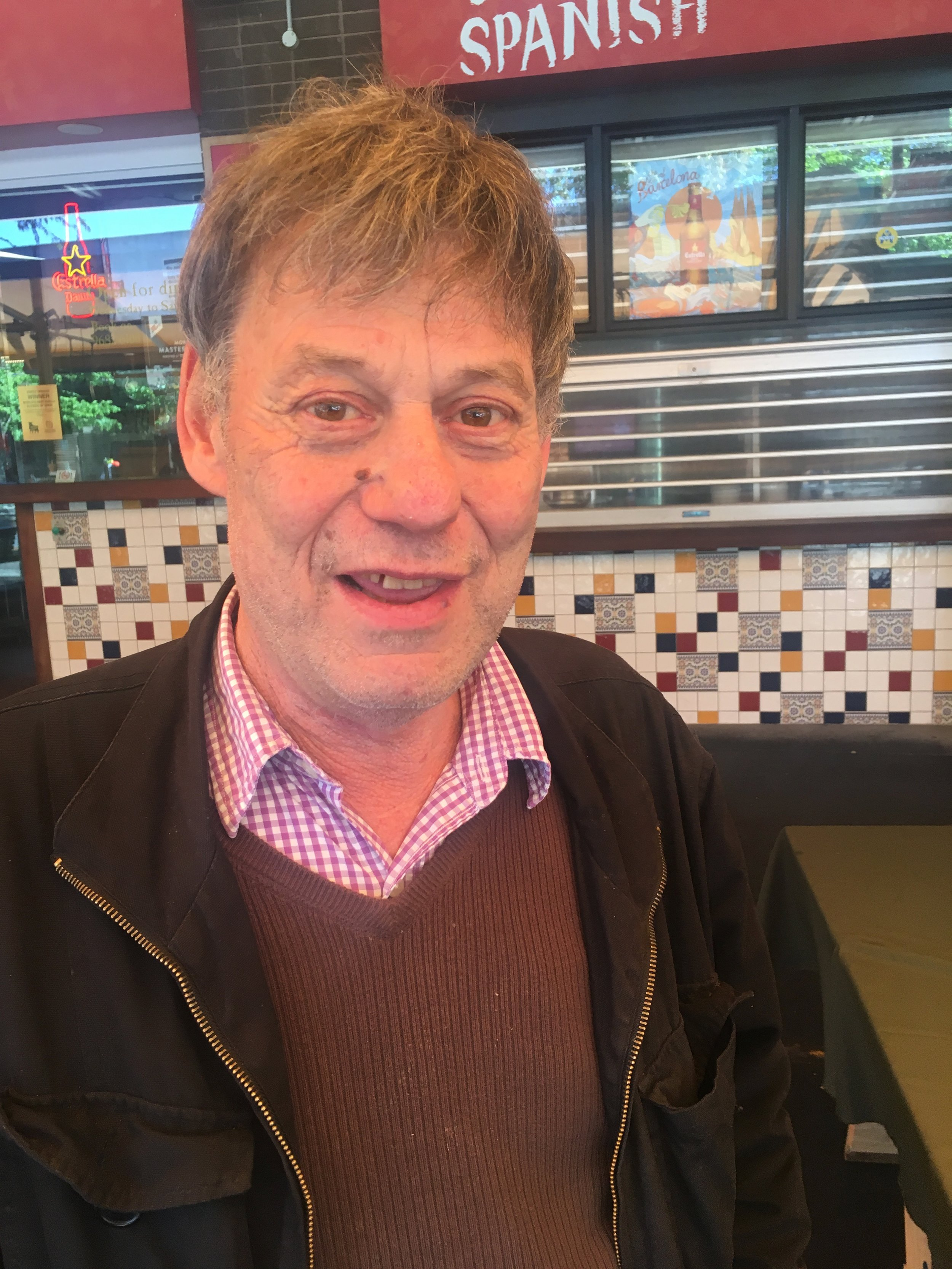 - Meet Warren: We call him 'Sir Warren'; he's a regular at our community lunches and an amazing character who always wears a smile. He never turns up without a comment to make about the footy and his beloved 'Blue Baggers' and is always up for a chat with the vollies.