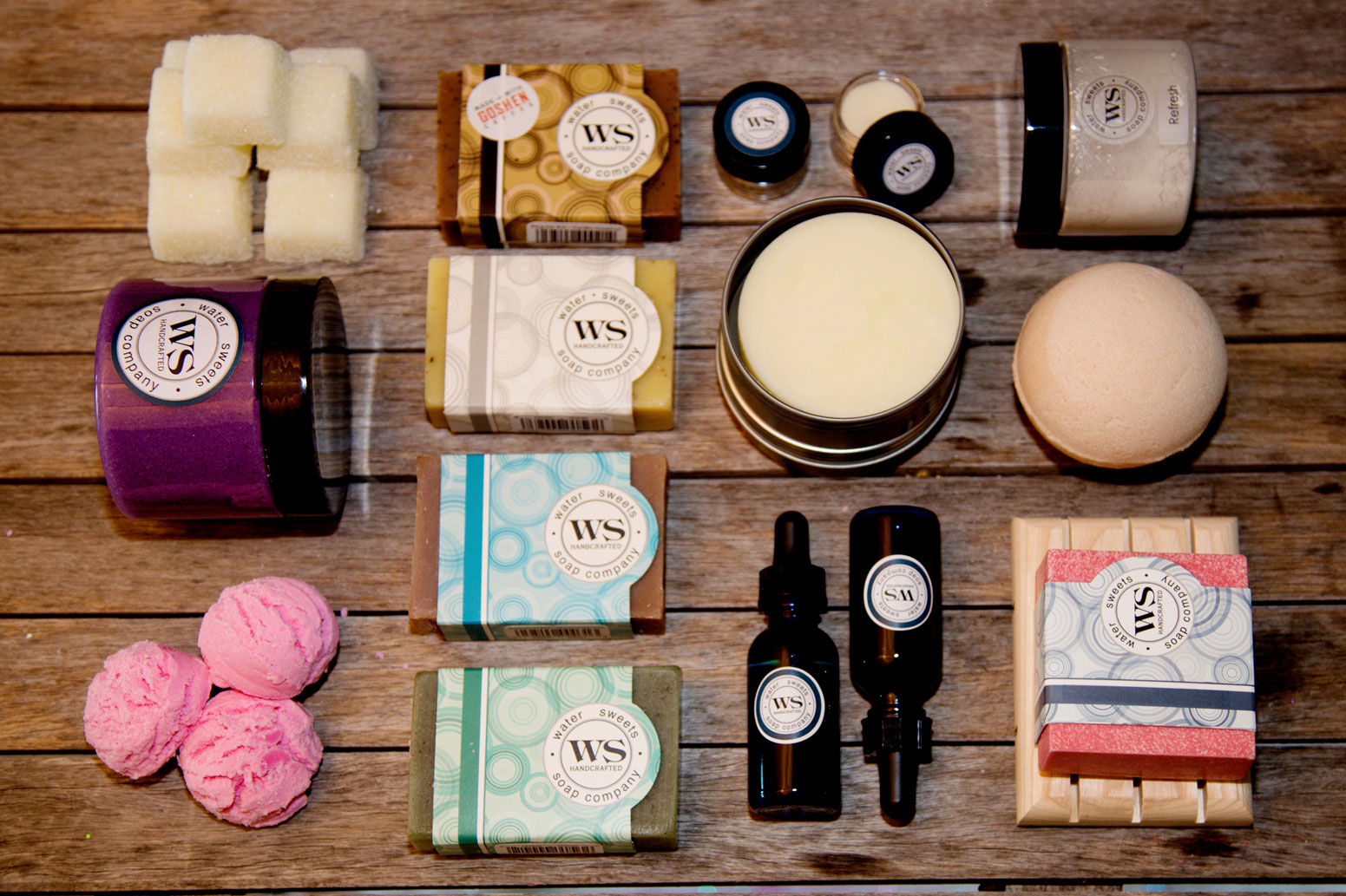 About Us - Water Sweets Soap Company is a family owned and operated manufacturer and retailer of handcrafted, signature soaps and other bath essentials including bath bombs, lotion bars, body scrubs and much more .