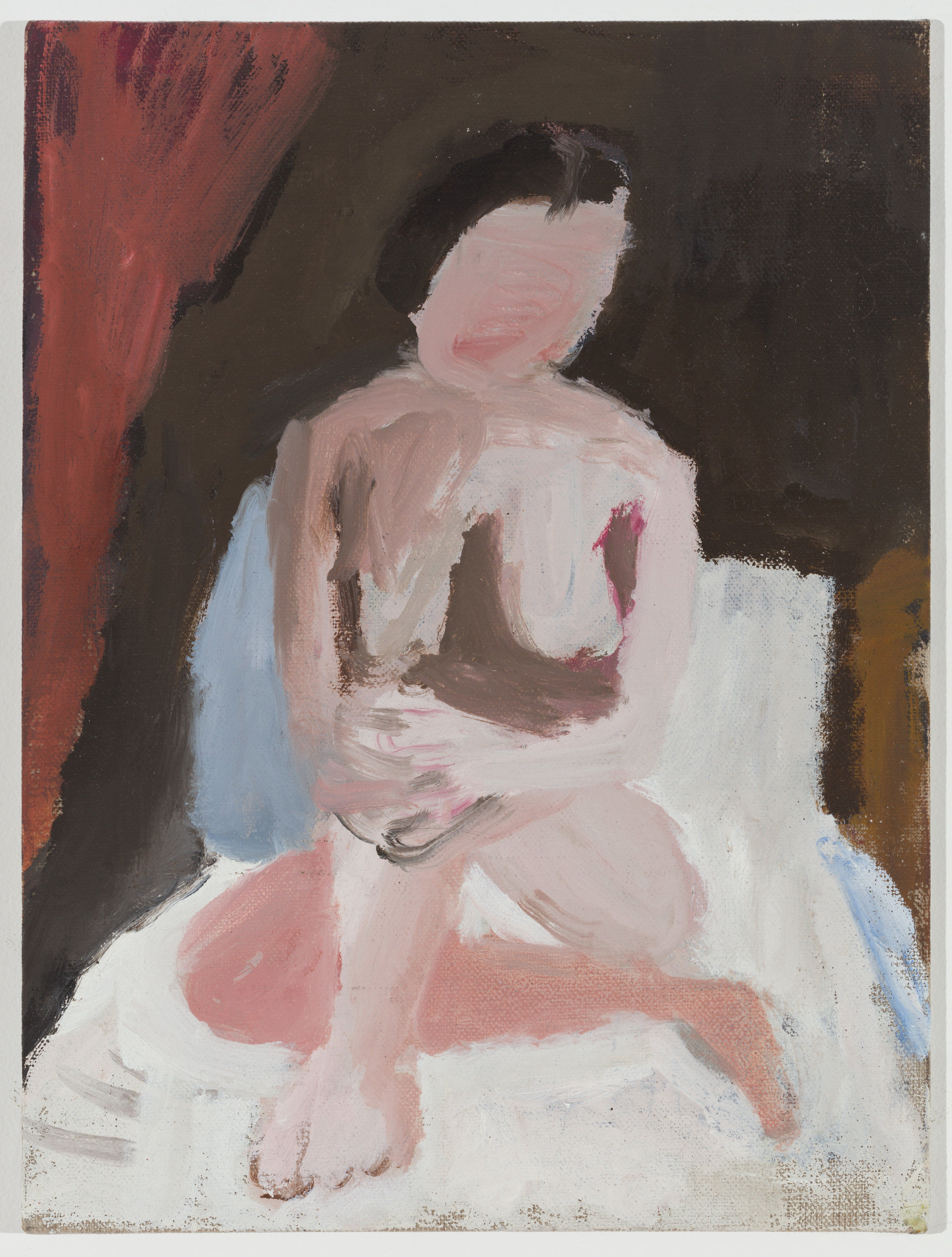 Nude with Folded Hands on Bed