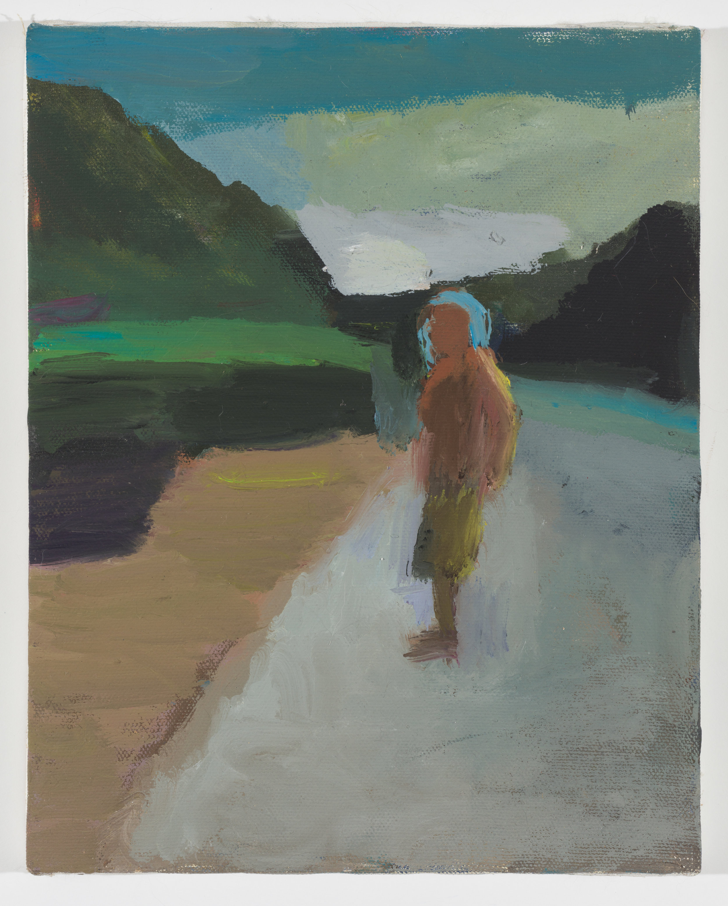 Man walking up the Road