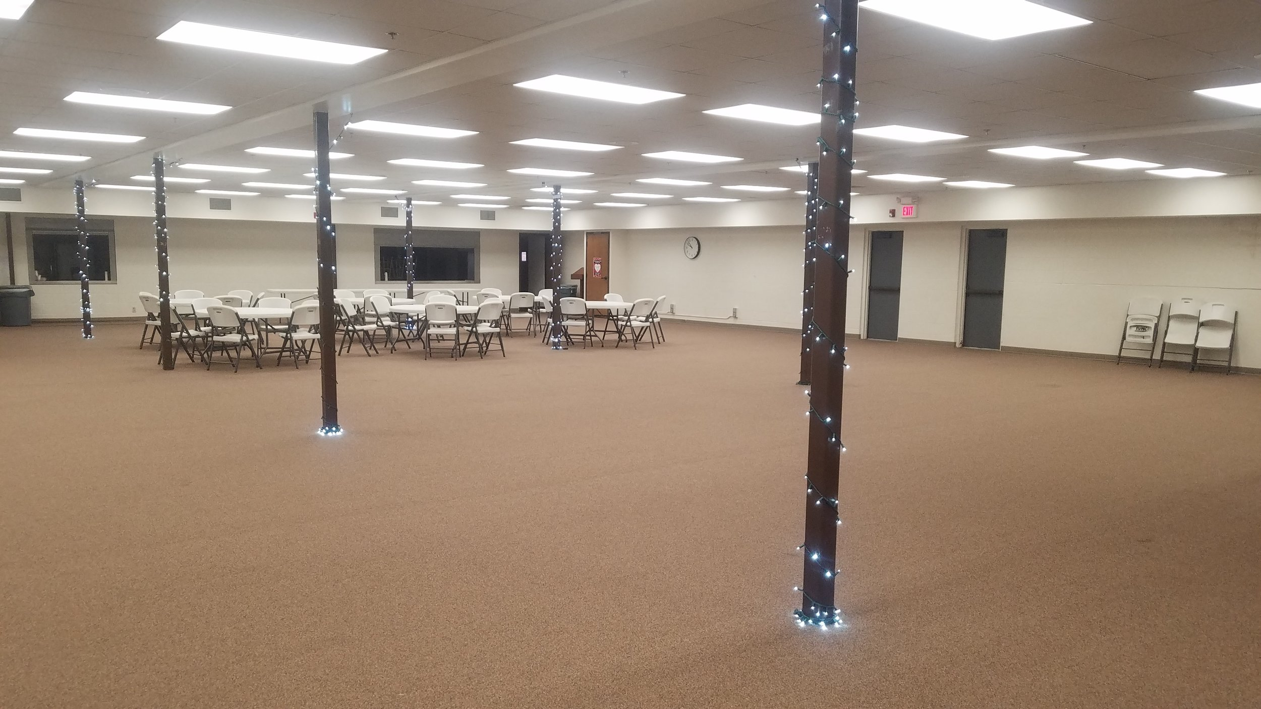 Christian Life Center (CLC) - This 5,000 sq. ft. open room is used for many different large eventsCost for Non-Members1-3 Hours: $503-8Hours: $100Cost for non-profit organizations, schools, and membersNo cost