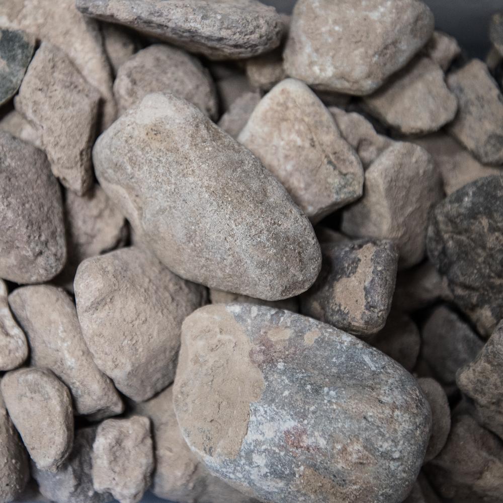 """2""""x3/4"""" Natural Leach Rock - $11.00/ton"""