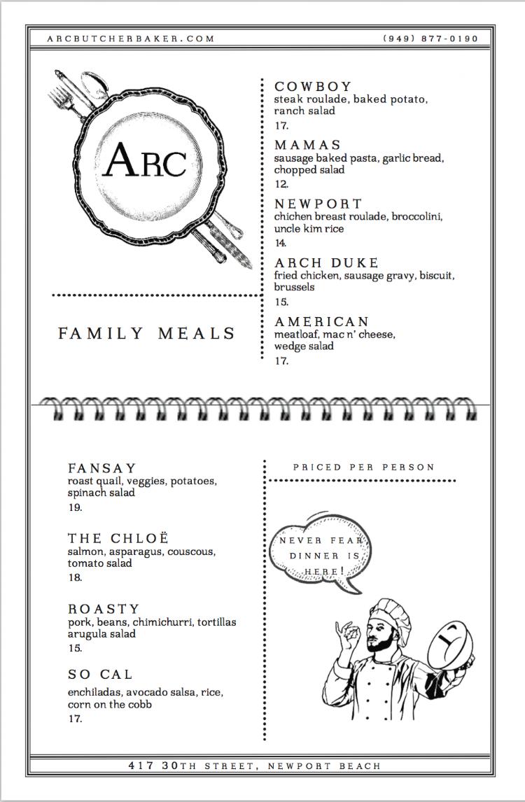 Arc Family Meal Menu.png