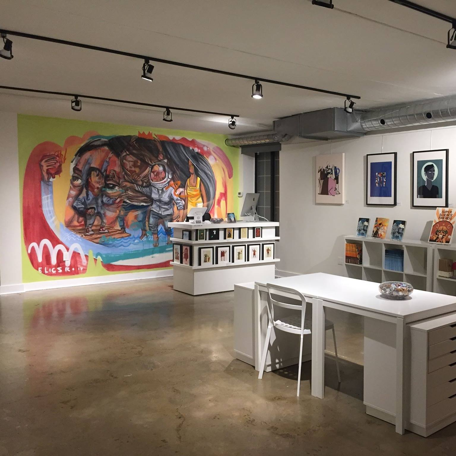 Liberty Arts Gallery, Elicser mural, art exhibitions and shows, launch parties art space