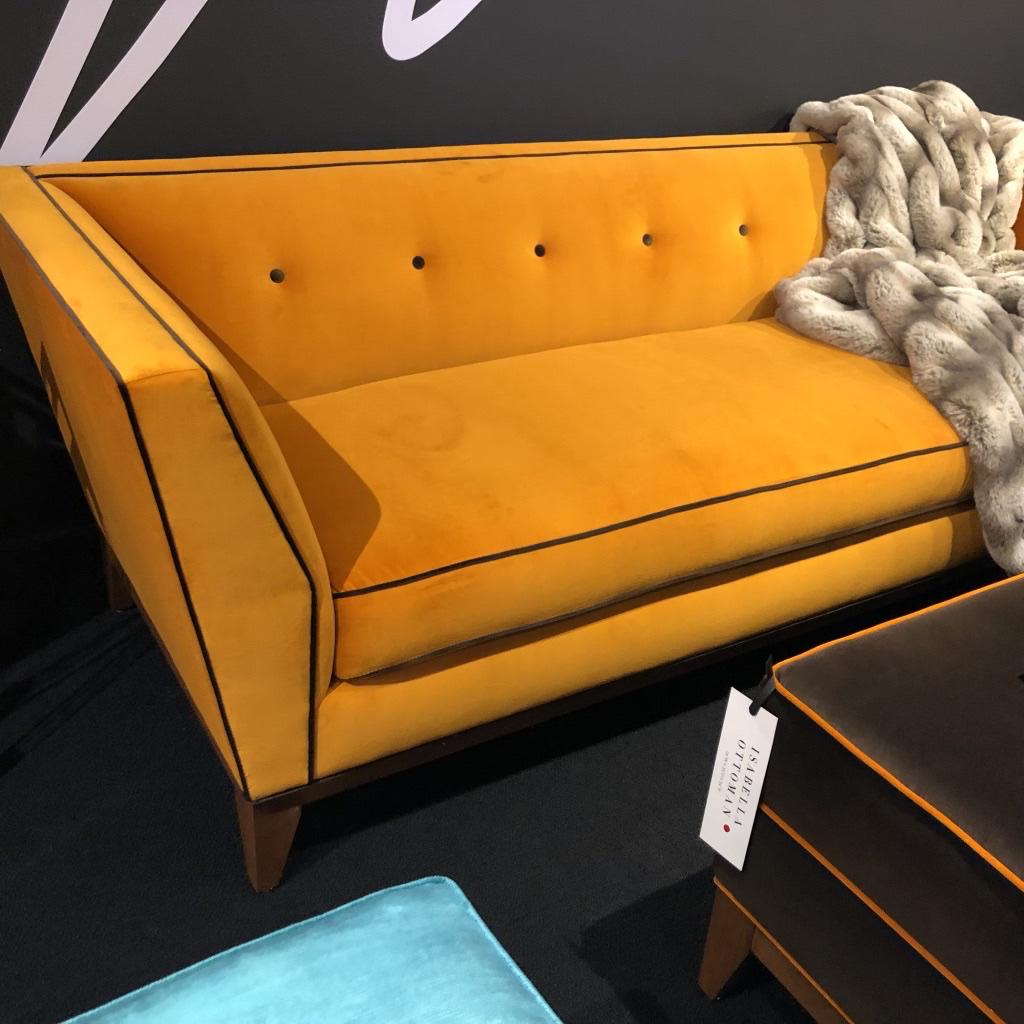 Jimmy DeLaurentis' Isabella sofa—-now that's color!