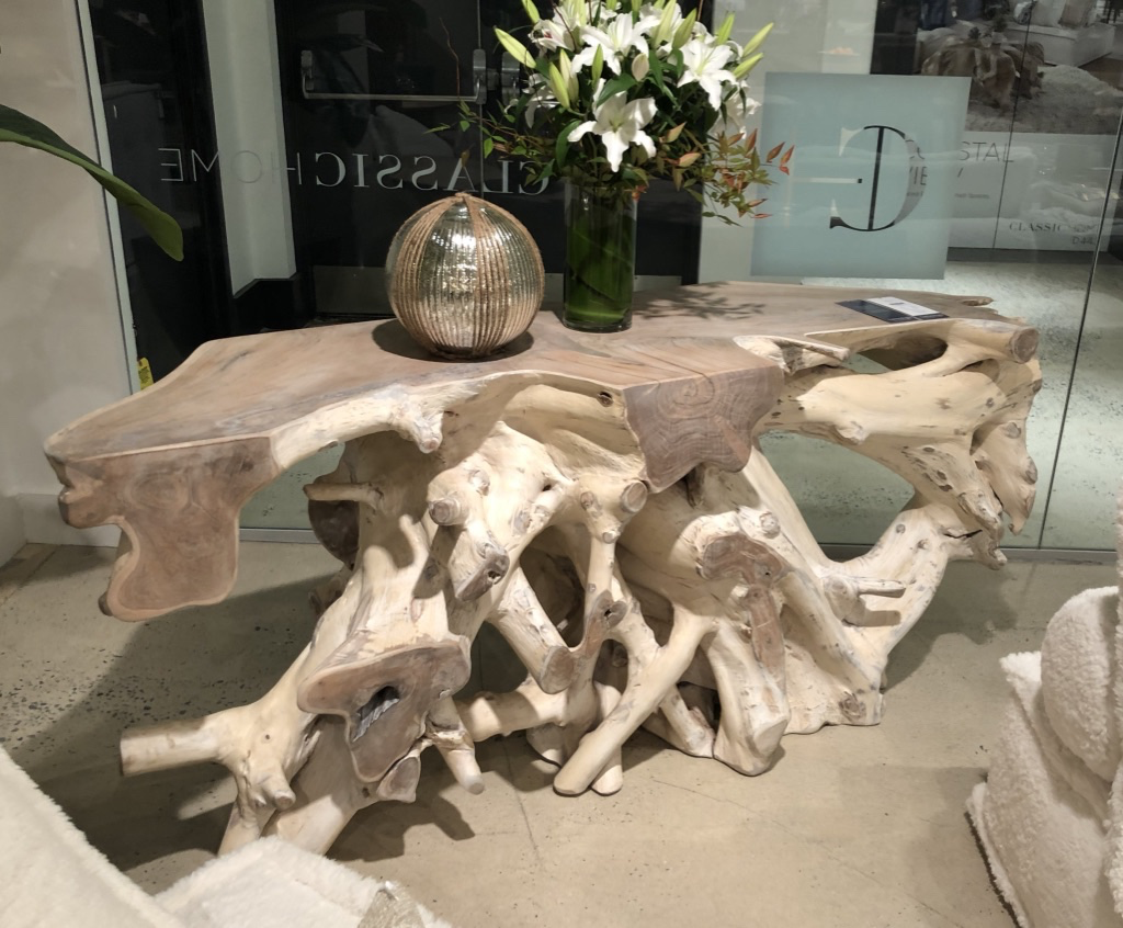 Classic Home's tree root console table.