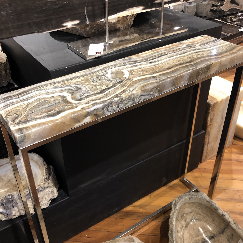 Asian Loft's marble console table.