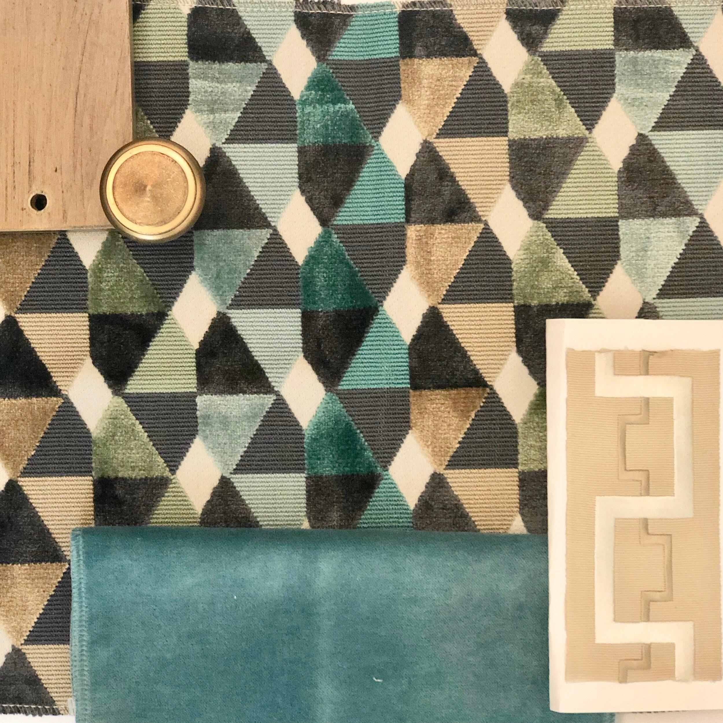 Fabric and finish inspiration board