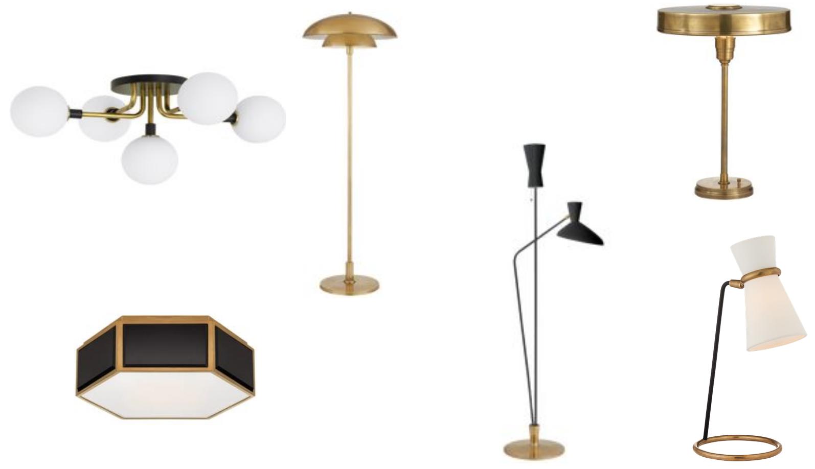 Lighting options for ceiling, floor and desks.