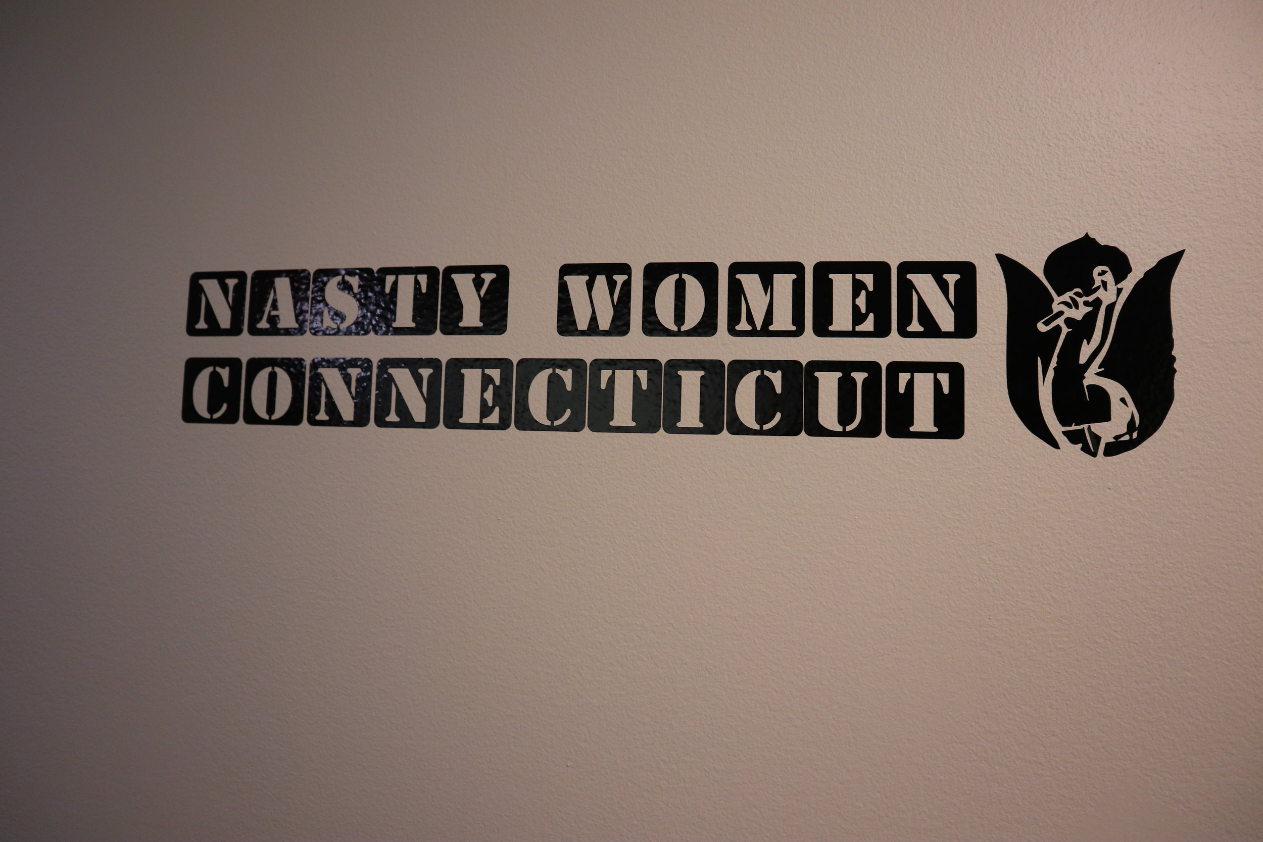 Vinyl sign created by Nathan Lewis  Image courtesy of Justin DeLand