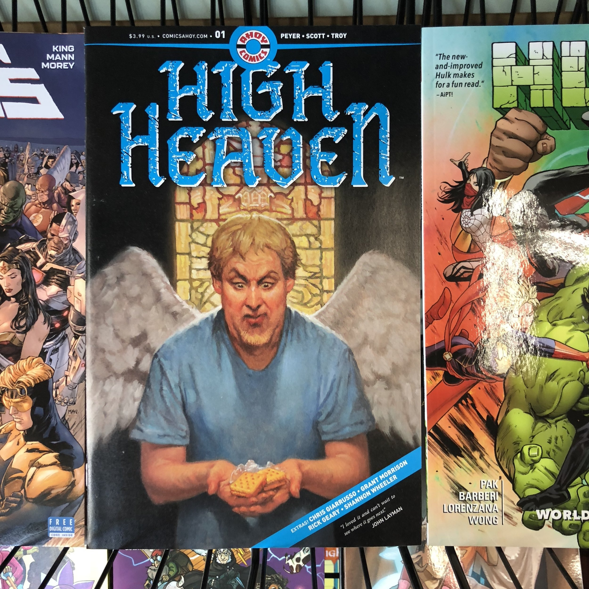 HIGH HEAVEN #1 - New publisher Ahoy Comics has some interesting looking books coming, and this is one of them. Also, Wrong Earth last week.