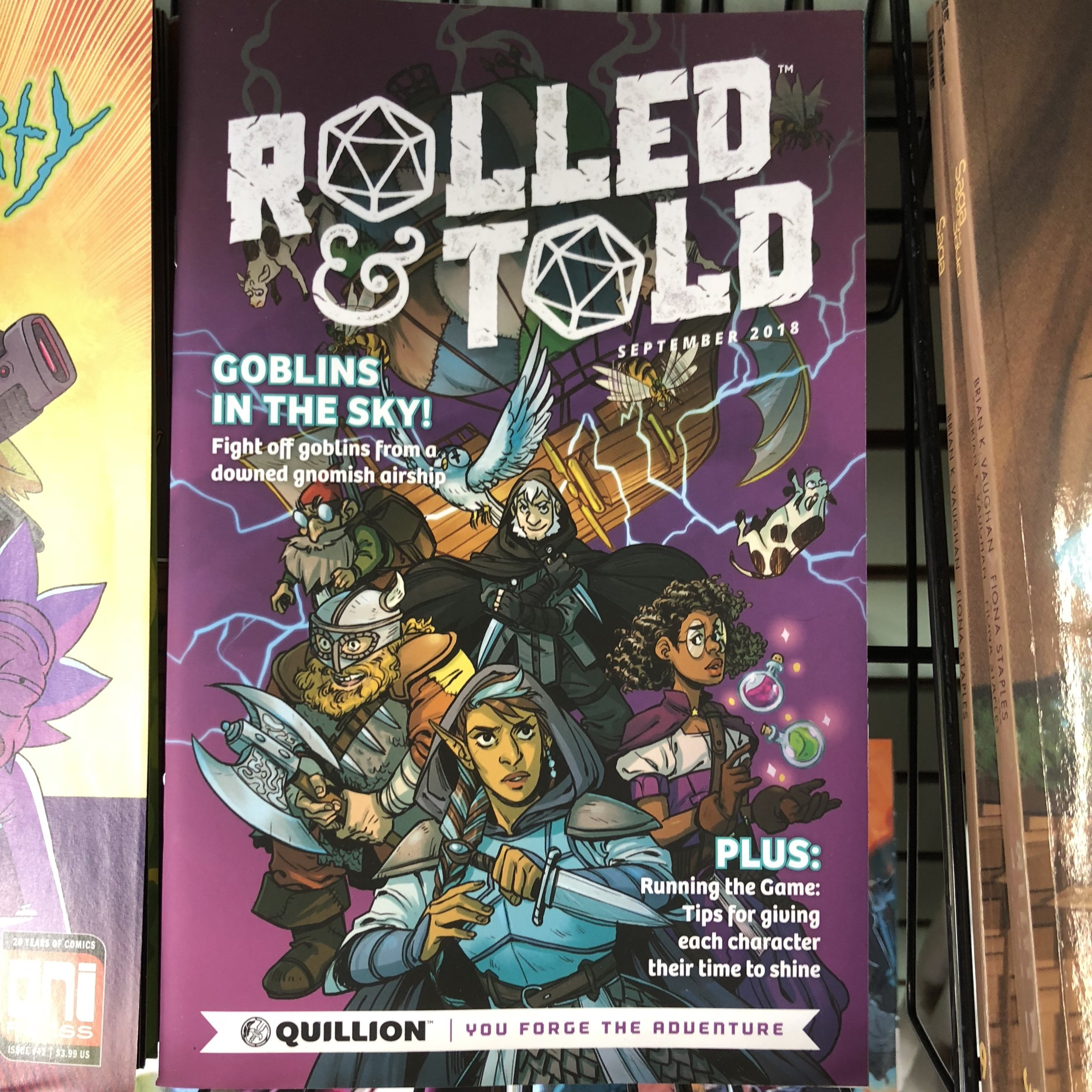 ROLLED & TOLD #1 - A mix of comic book and D&D supplement, this is out! I have preview books still if you want to get a taste, but this is gonna be big I think!
