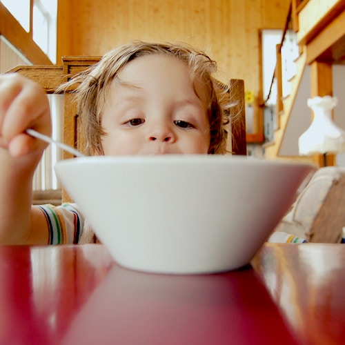Feeding Therapy - Child with Bowl