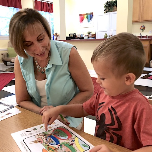 Speech and Language Therapy - Lynn Carswell with Young Boy