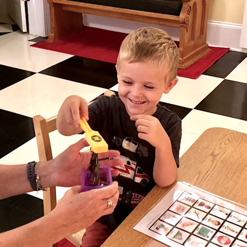 Speech and Language Therapy - Young Boy Playing