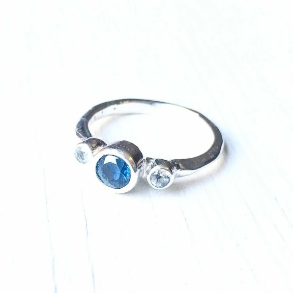 Topaz and Aquamarine engagement ring.