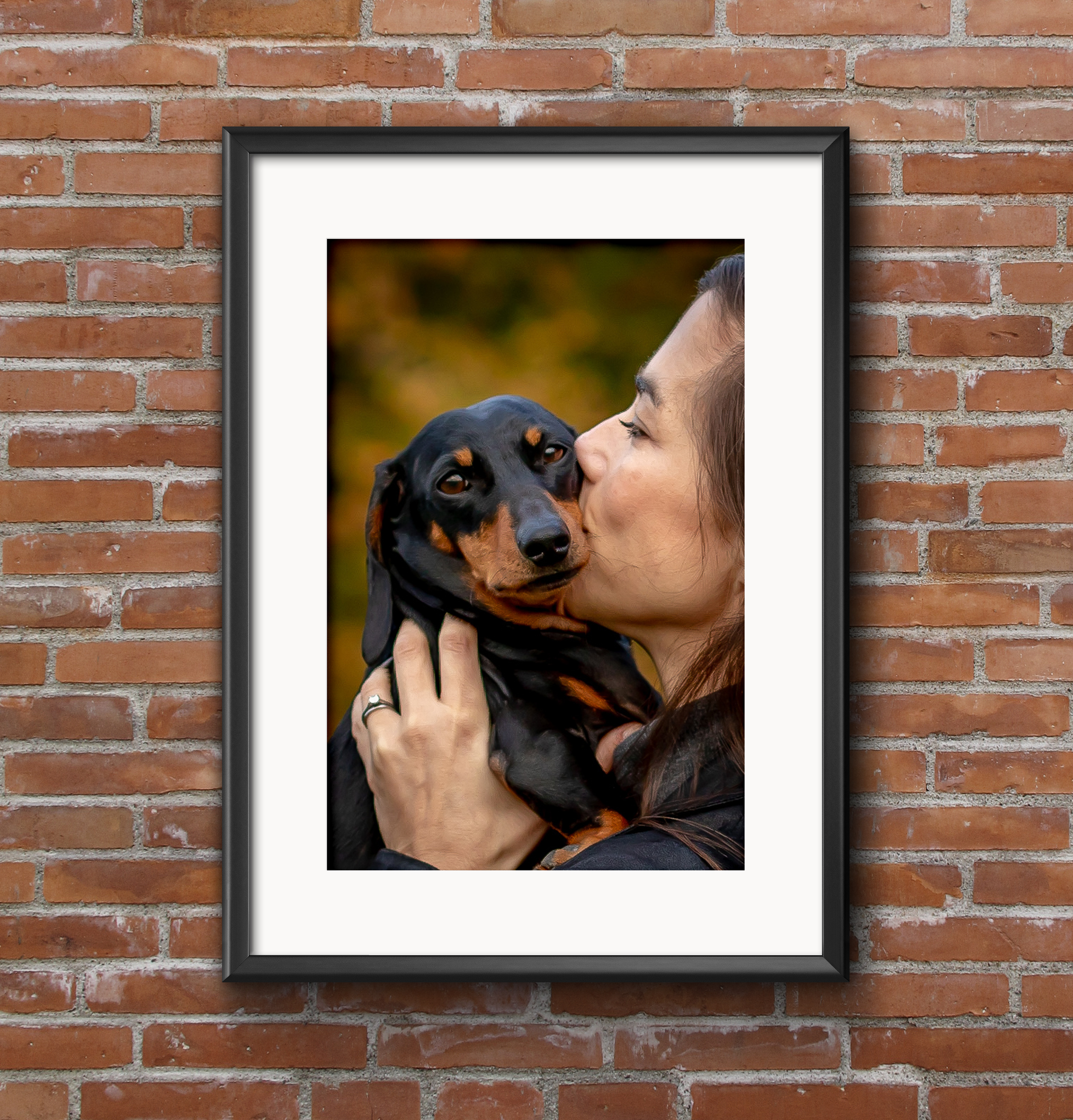The Gold Package includes a spectacular A3-sized wall print, mounted in a beautiful wooden A2-sized frame.