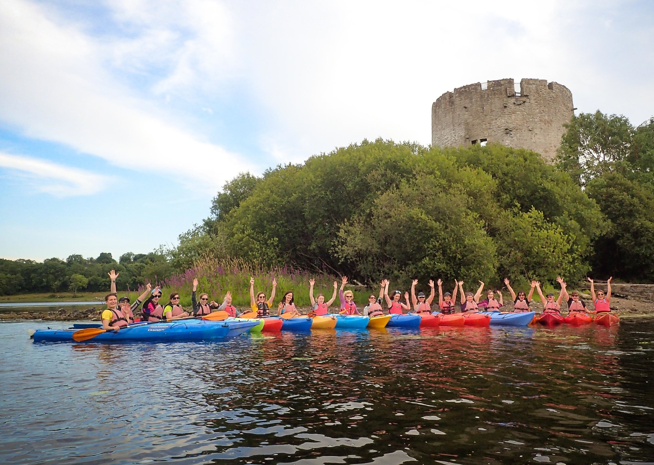 Guided Kayak Tour - If you wish to get the best possible experience while exploring Oughter Castle we highly recommend a Guided Kayak Tour. Paddle out to the castle and discover the history behind its walls with an experienced guide by your side, while also getting closer to the wildlife and the landscape.