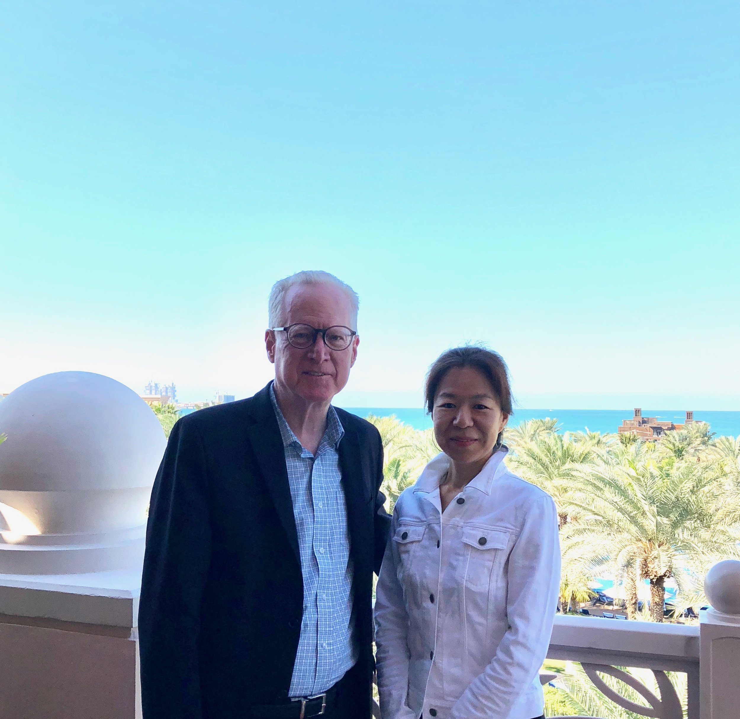Edward Esko with his wife Naomi Ichikawa in Dubai.