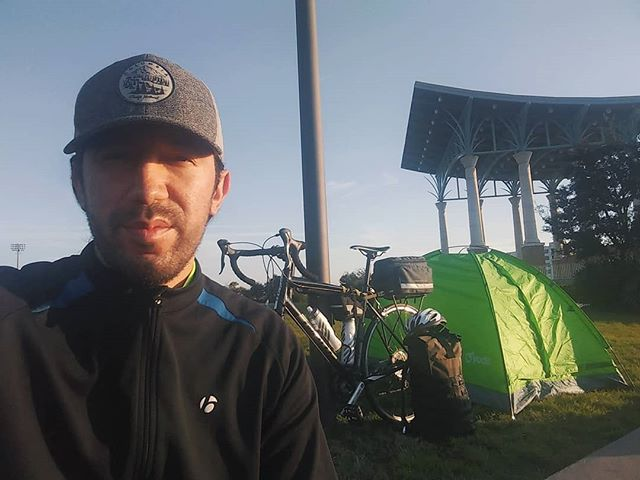 My mom always said going camping was like pretending to be homeless... I have to agree lol The bike has been good to me, but I won't be missing the tent #intents In Pensacola, FL, less than 400 miles until the finish line, but first taking some time to watch the sunrise.  Check out the link in bio to donate #CodeXInspire - - - - - - #florida #pensacola #miami #tallahassee #jacksonville #orlando #camping #tent #bike #cycle #ride #roadbike #retiring #california #bikelife #code #techforall #college #scholarship #education