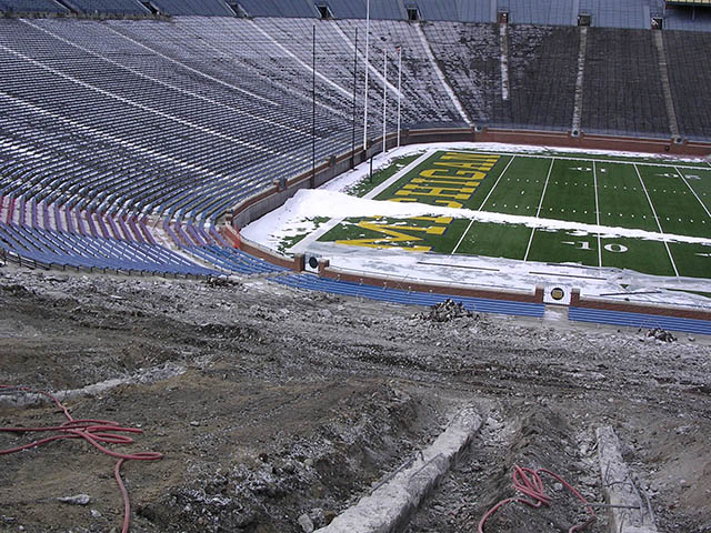 Our California redwood seats and blue fiberglass covers were borne of this effort. All Michigan Stadium Product are made from authenticated materials.