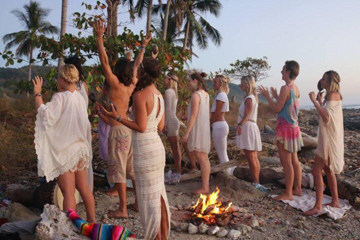 Fire Ceremony: Santa Teresa, Costa Rica