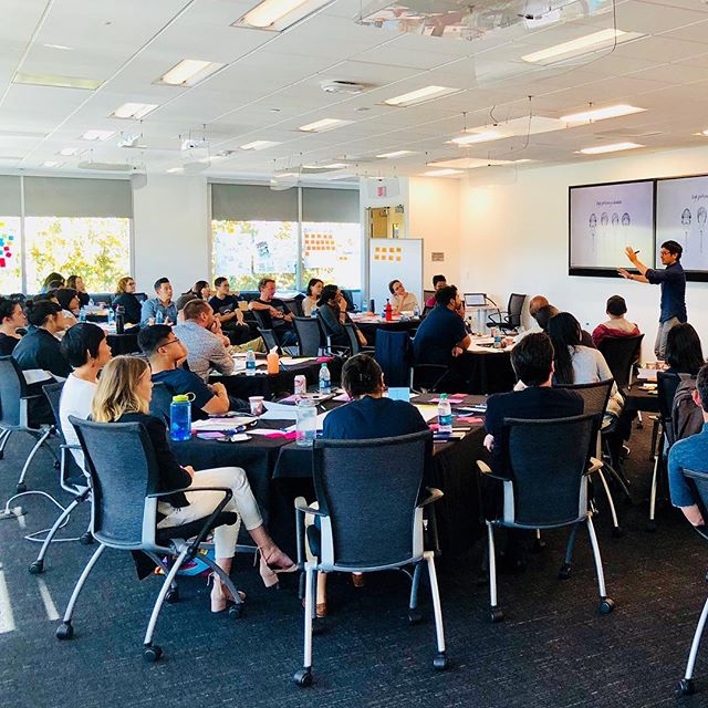 Bold&Resolute's co-founder, Pauly, leading a workshop on the art & science of company culture, with a team of leaders from one of the world's largest tech companies 👌✨😎 Such a great group!!