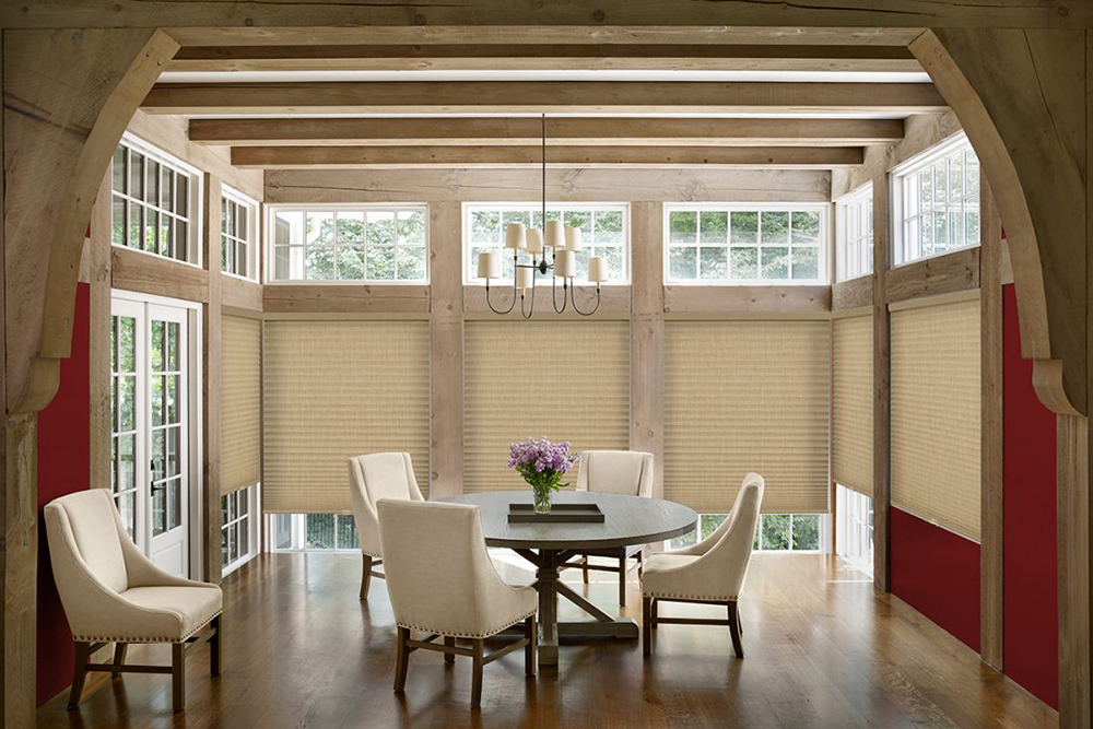 Cellular shades combine the beauty of a soft window treatment with the functionality of a shade. They offer excellent insulation, sound absorption and privacy along with options like cordless and top-down / bottom-up.