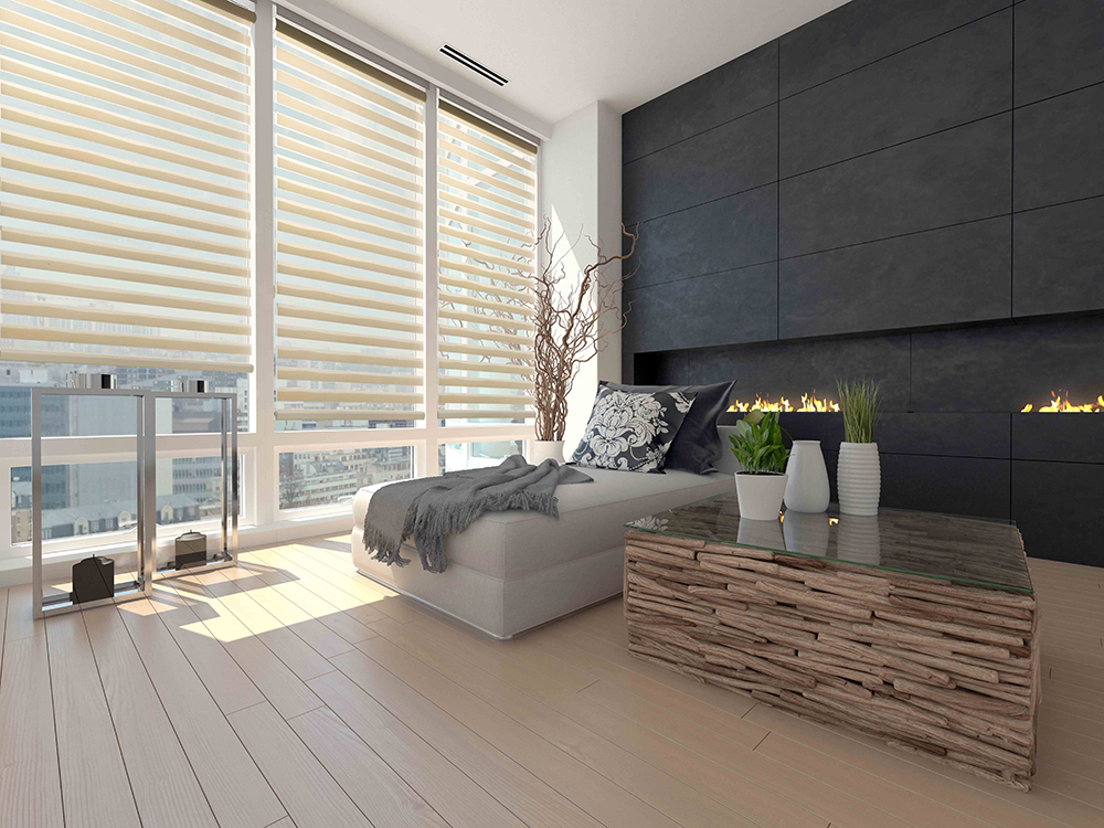 Sheer shades combine transparent fabric with opaque or room-darkening vanes that allow you to control the amount of light and privacy in your room.