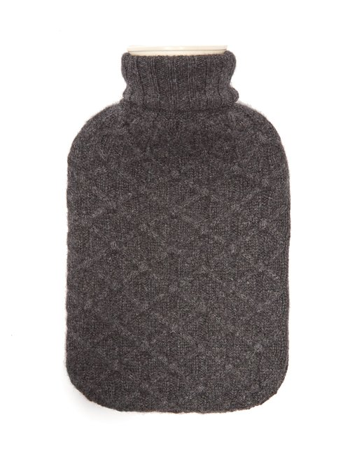 Knitted cashmere hot water bottle from Allude  £98  Perfect for cold days.  Photo: www.matchesfashion.com