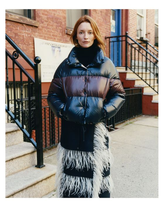 Audrey Marnay for Vogue's 24 Ways To Wear Moncler, photo: Vogue.