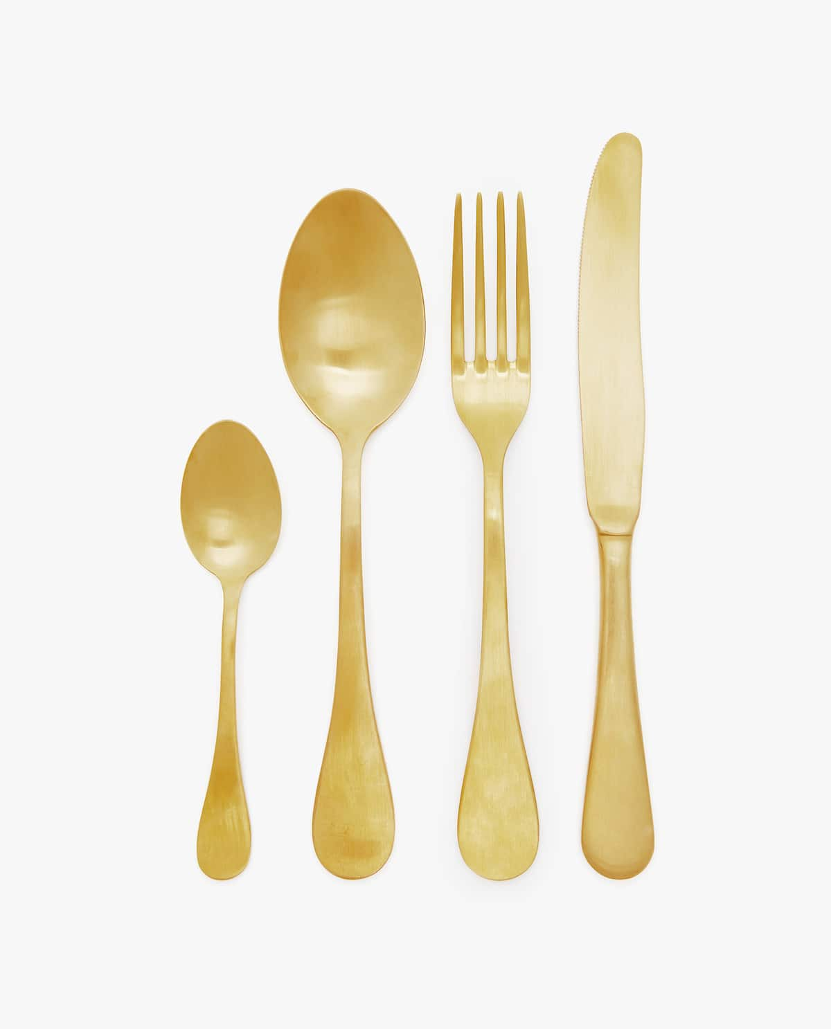 Matte gold-colored cutlery,  $7.90 - $9.90, from Zara Home   Photo:  Zara Home