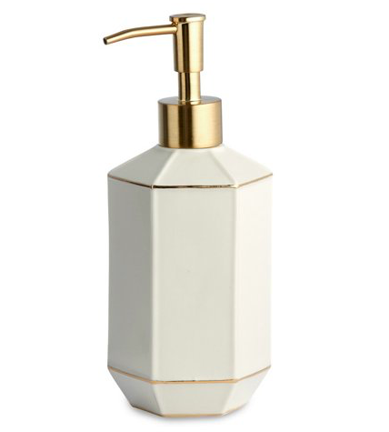 St. Honore Lotion Dispenser,  $24.00, from One Kings Lane   Photo:  One Kings Lane