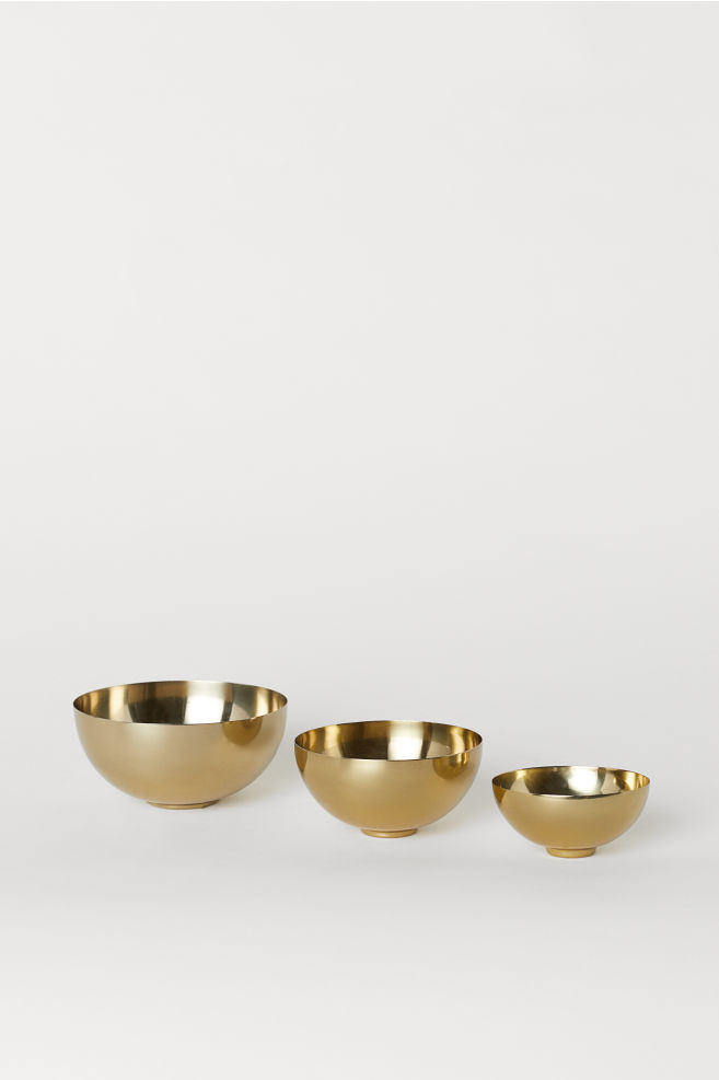 3-pack metal bowls,  £12.99, from H&M Home   Photo:  H&M Home